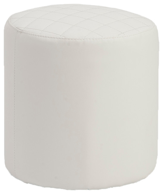 Chen Quilted Stool-Wht contemporary-chairs