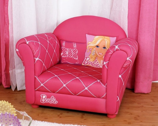 Kids Furniture - Sit back and relax in Barbie-style! The Barbie Glam Armchair, with its fully padded upholstery and hot pink color, is the perfect comfy chair for reading, playing, or watching TV. It will brighten any room!