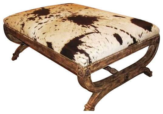 Caledonia Ottoman Rustic Footstools And Ottomans By