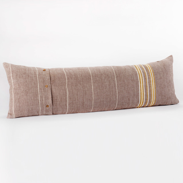 Coyuchi Rustic Linen Toast Pillow - Modern - Decorative Pillows