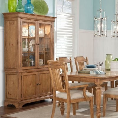 Legacy Pleasant Grove Pine China Cabinet - Modern - Storage Cabinets - by Hayneedle