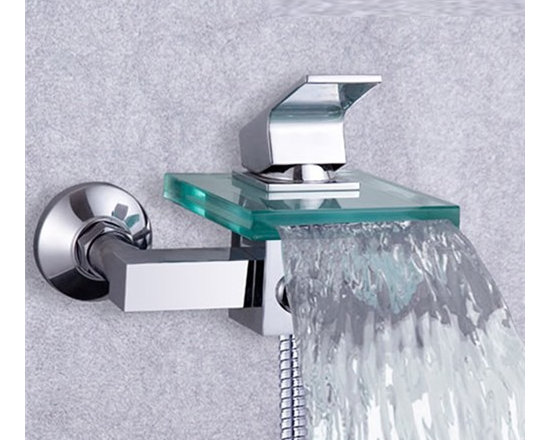 Shower Faucets - New Arrival Single Handle Glass Waterfall Cold and Hot Shower Faucet--FaucetSuperDeal.com