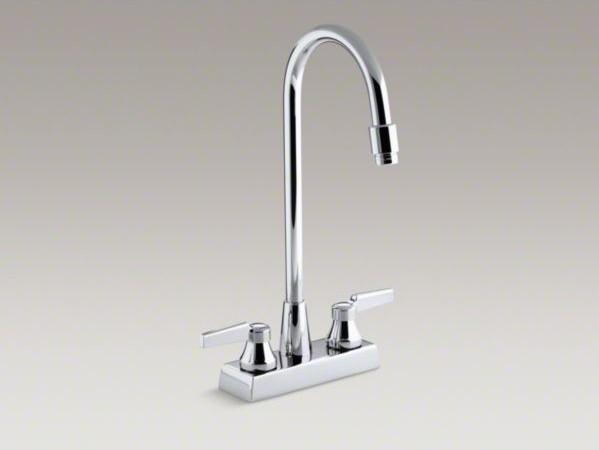 KOHLER Triton(R) centerset commercial bathroom sink faucet with gooseneck spout contemporary-bathroom-faucets-and-showerheads
