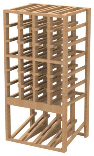 EcoWineracks 4 Column Upper Display Rack, Natural Color, Clear Acrylic Finish traditional-wine-racks