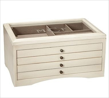 Andover Jewelry Box, Large, Antique White - Traditional - Jewelry Boxes And Organizers - by ...