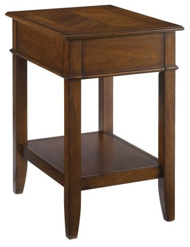 Hammary mercantile rectangular corner table contemporary for Corner side table