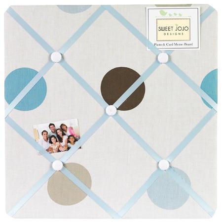 Blue and Chocolate Mod Dots Fabric Memo Board contemporary-bulletin-board