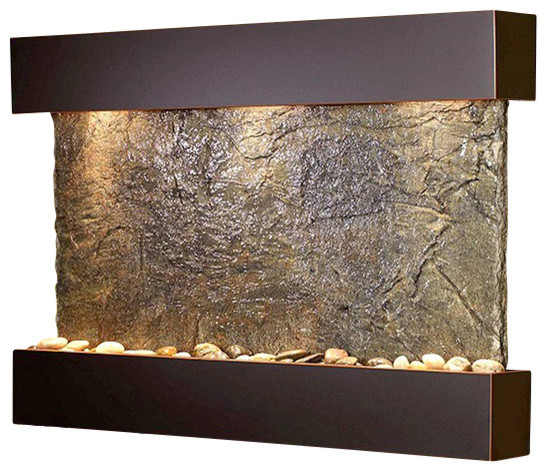 Decorative Wall Fountains Reflection Creek Wall Fountain Copper And Slate