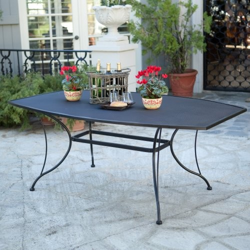 Dining table wrought iron outdoor dining table - Advantages of wrought iron patio furniture ...