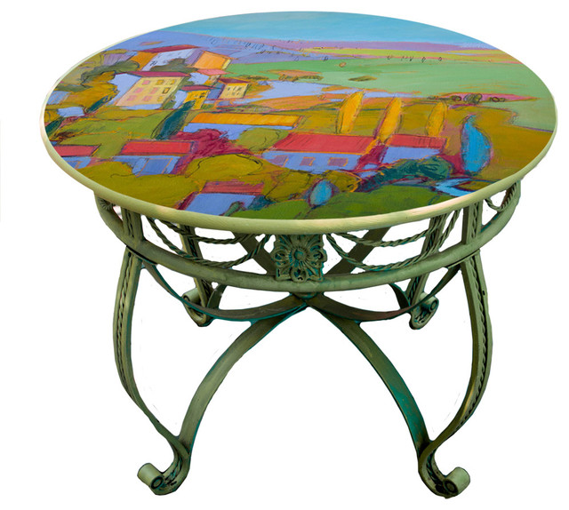 Hand Painted Dining Table Top 36 Provence Cottage Design