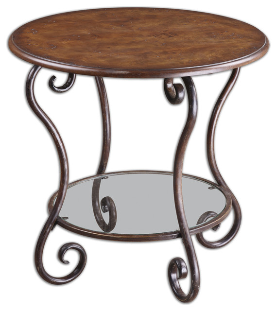 Felicienne Wooden Top Accent Table traditional-side-tables-and-end-tables