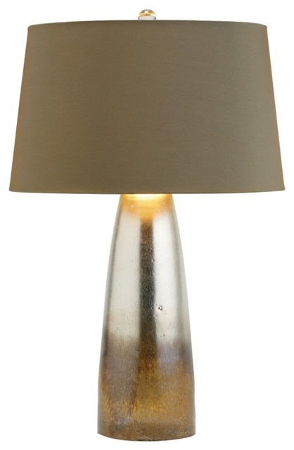 Leopard Silveria Glass Table Lamp