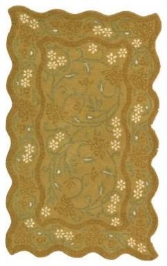 Safavieh Heritage HG213B Area Rug - Dark Gold modern-rugs