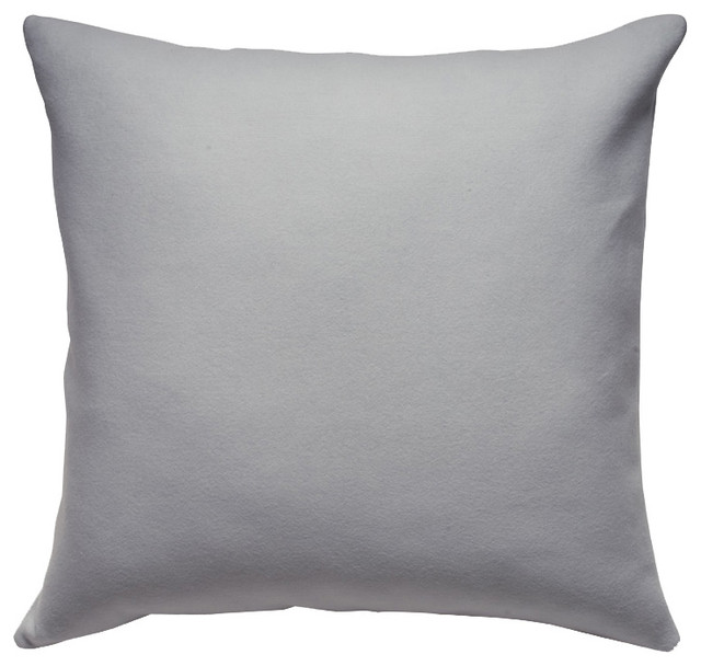 Unison Harbor Gray Large Square Throw Pillow - Contemporary - Decorative Pillows - by purehome