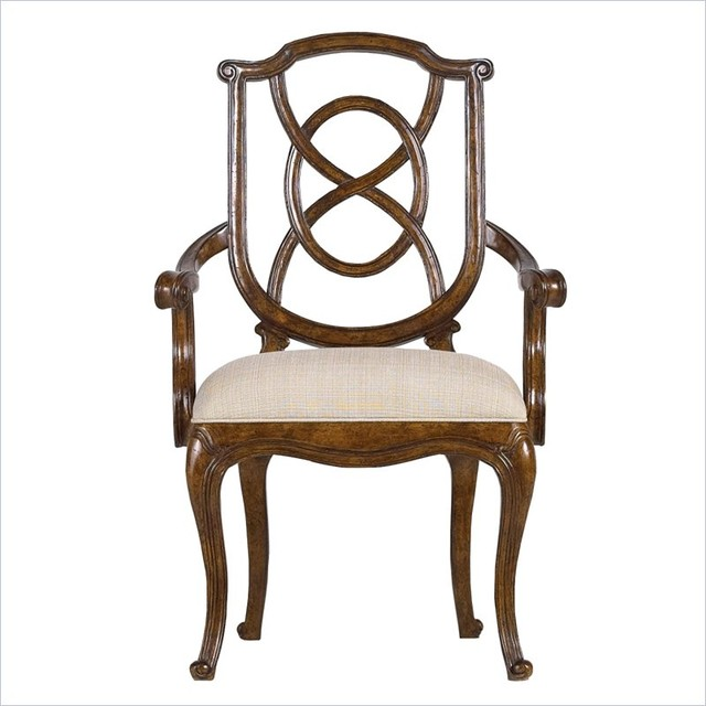 Stanley Furniture  Arrondissement Tuileries Arm Chair in Heirloom Cherry traditional-dining-chairs