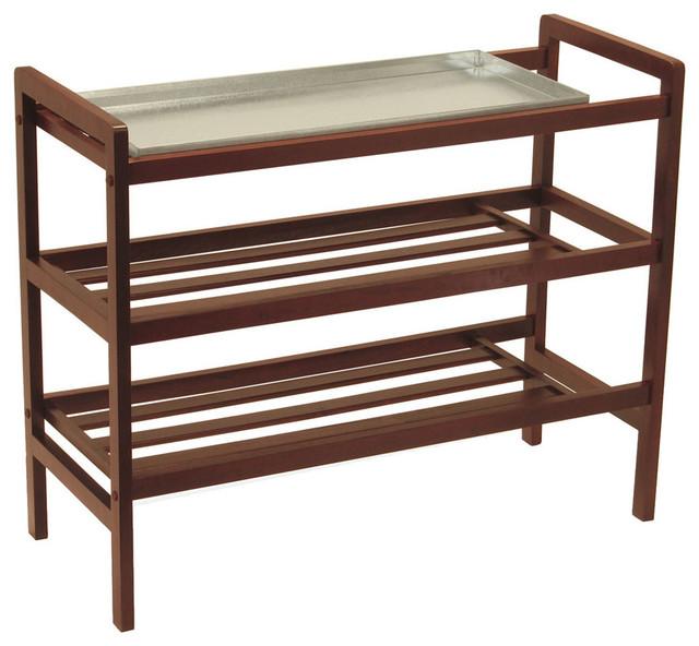 Shoe Rack with Shelf - Modern - Shoe Storage - by Modern Furniture ...