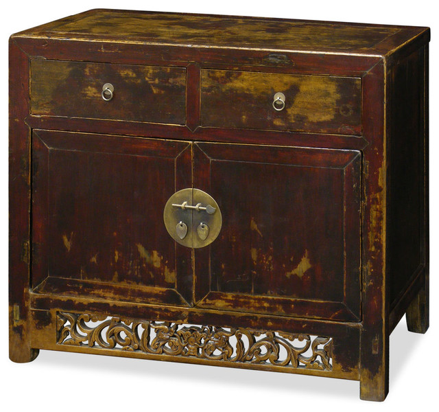Antique Elmwood Ming Cabinet - Asian - Accent Chests And Cabinets - by China Furniture and Arts