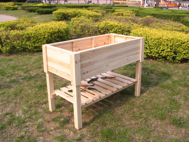 Raised Garden Beds made of Chinese fir - Outdoor Pots And Planters - hong kong - by Dalian ...