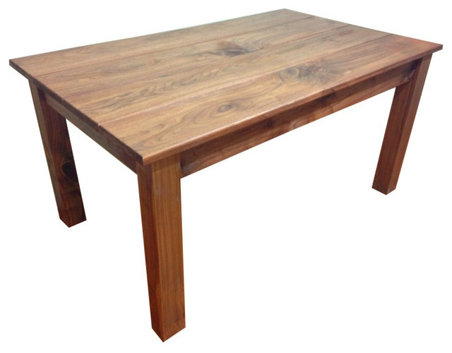 Walnut Farm Table 42 Inches Rustic Dining Tables