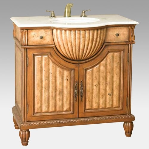 Llorne Two Tone Single Sink Bathroom Vanity - traditional