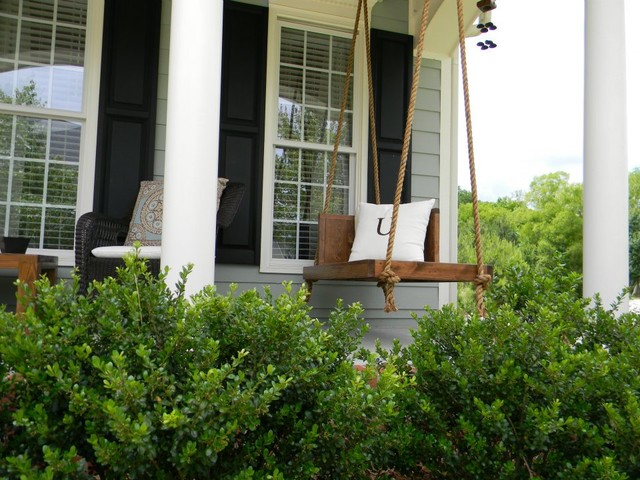 Custom Hanging Porch Lounger eclectic-furniture