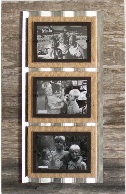 Reclaimed Wood & Corrugated Frame - Triple eclectic-frames