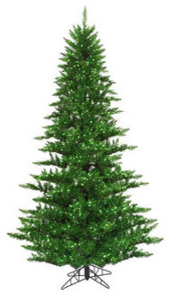 4.5 ft. x 34 in. Green Tinsel Fir Christmas Tree traditional-christmas-trees