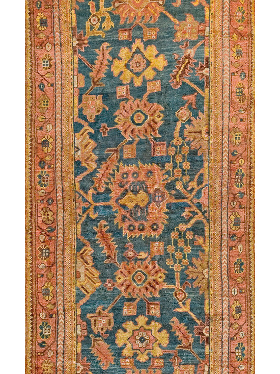 "Antique Turkish Oushak Carpets - #18955 antique Turkish Oushak carpet 3'3"" x 7'3"""