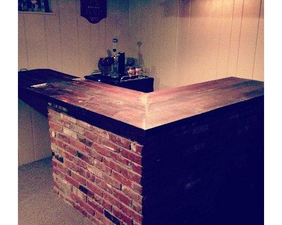 Reclaimed Wood Bar Top - Reclaimed Wood Custom Bar Top