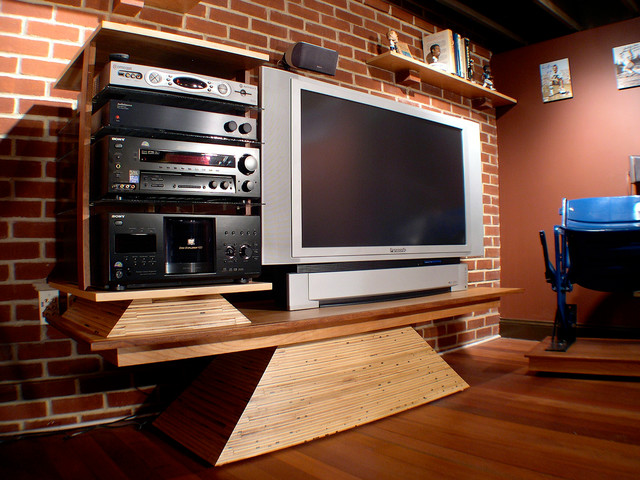 Man Caves Houzz : Sports themed man cave eclectic basement