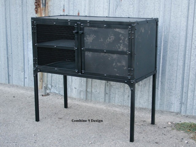 vintage industrial buffet hutch sideboard urban style bar loft decor industrial wine and. Black Bedroom Furniture Sets. Home Design Ideas