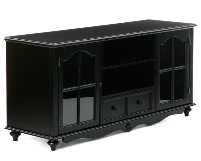 Roosevelt Large TV Console, Antique Black - Contemporary ...