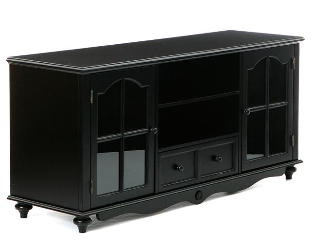Roosevelt Large TV Console, Antique Black - Contemporary ...