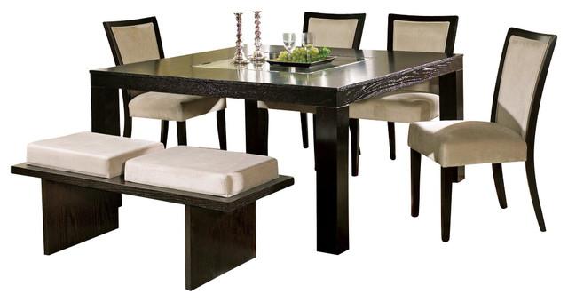 silver movado 6 piece 60x60 dining room set contemporary dining sets