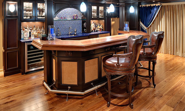 wood bar countertop by grothouse traditional kitchen countertops