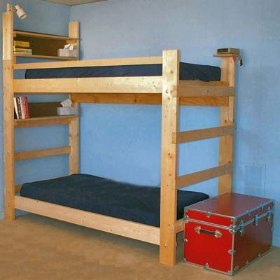 Heavy Duty Solid Wood Bunk Bed 1000 Lbs Wt Capacity Traditional Bunk Beds New York By