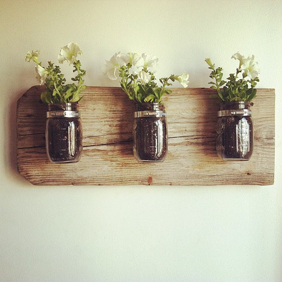 mason jar wall planter by chateau gerard contemporary. Black Bedroom Furniture Sets. Home Design Ideas
