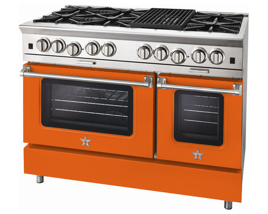 "BlueStar Platinum Series: 48"" Range - 48"" BlueStar Platinum Range in Traffic Orange (RAL 2009)"