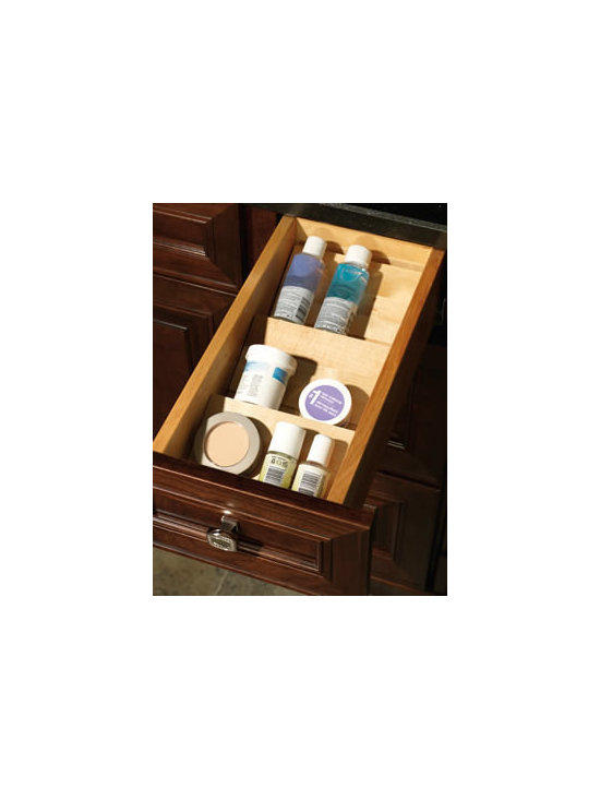 Merillat Masterpiece® Base Vanity Drawer Storage Kit - This handy tray keeps small items out of the way but right at your fingertips.