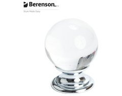 7038-926-C Crystal and Prolished Chrome Cabinet Knob by Berenson traditional-knobs