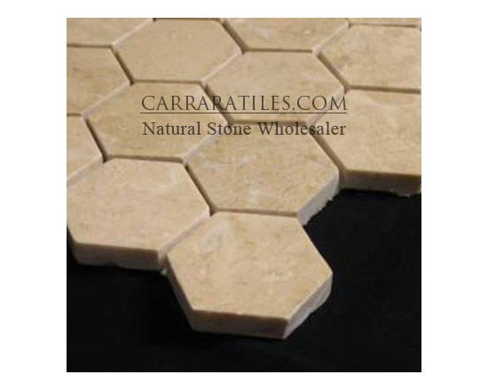 """Crema Marfil Marble 2"""" Hexagon Mosaic Tile Polished - Crema Marfil Hexagon Mosaic Tile is also known as 2 inch Crema Marfil Hexagon Mosaic. Available in polished finish, premium grade hexagon mosaic tile is perfect for both residential and commercial projects (kitchen renovation, shower remodeling, renovating bathroom, backsplash, flooring, cladding walls). Hexagon Mosaic Tiles are mainly preferred as floor tiles for their clean, aesthetic qualities. A large selection of coordinating products are available, including Crema Marfil basketweave mosaics, Crema Marfil herringbone mosaics, Crema Marfil 3x6 marble subway tiles, 12x12 Crema Marfil marble tiles, 4x4 Crema Marfil marble tiles, Crema Marfil borders, Crema Marfil moldings and Crema Marfil baseboards."""