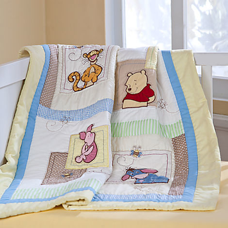 Classic Winnie The Pooh Toile Fabric for Baby Bedding