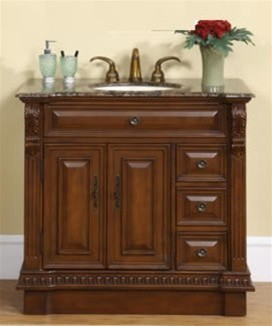 "SR0034 - 38"" Caroline Luxe Single Bathroom Vanity traditional-bathroom-vanities-and-sink-consoles"
