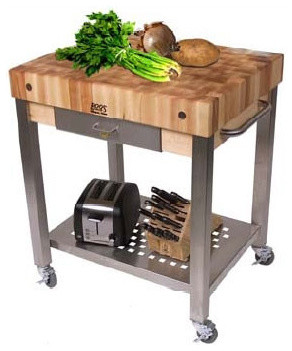Cucina Americana Technica Kitchen Cart with Butcher Block Top modern-kitchen-islands-and-kitchen-carts