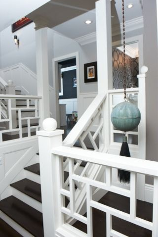 Cool California Living Room eclectic-staircase