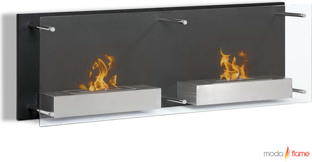 Moda Flame Faro Wall Mounted Ethanol Fireplace contemporary-fireplaces