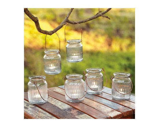 Jelly Jar Tea Light Lanterns -
