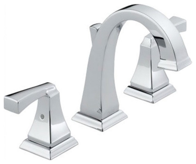 delta dryden 4551 double handle minispread bathroom sink faucet modern