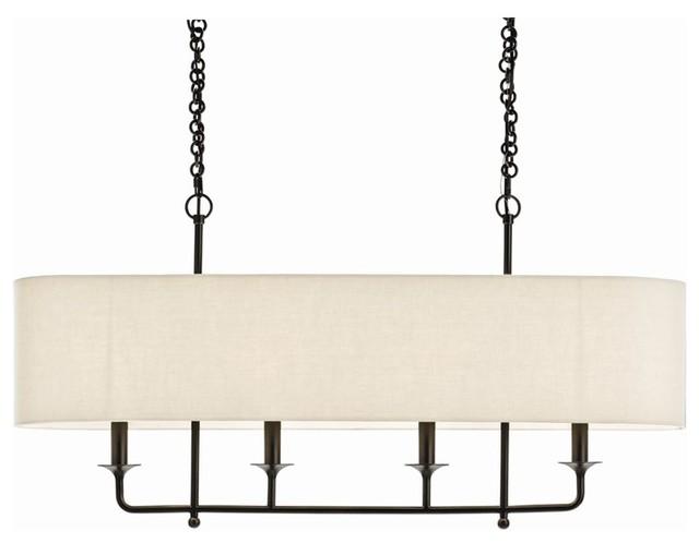 Pendant lighting linen shade : Beatty chandelier light beige contemporary