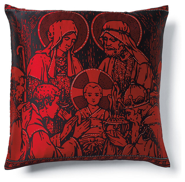 Manger Scene Throw Pillow - Christmas Decorations - Traditional - Holiday Decorations - by FRONTGATE